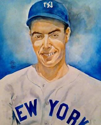 Sports Painting - Joe Dimaggio by Nigel Wynter
