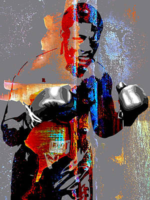 White Glove Mixed Media - Joe Frazier Collection by Marvin Blaine