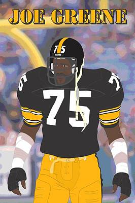 Joe Greene - Pittsburgh Steelers - 1978 Print by Troy Arthur Graphics