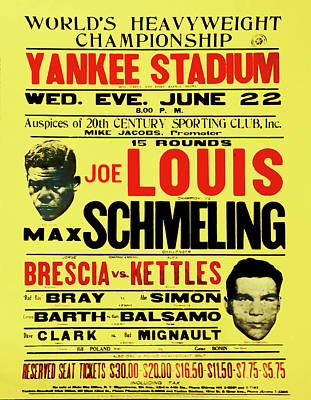 Yankee Stadium Digital Art - Joe Louis Vs Max Schmeling by Bill Cannon