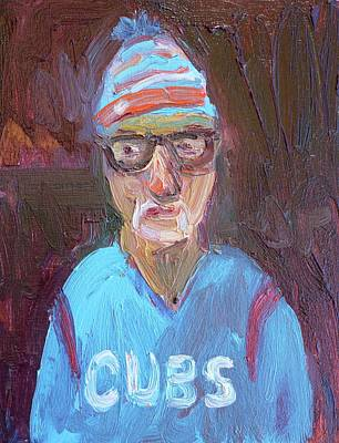 Cleveland Indians Painting - Joe Maddon Cubs  by John Kilduff