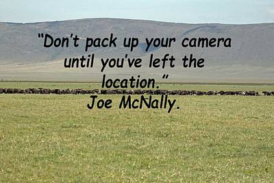 Photograph - Joe Mcnally Quote by Tony Murtagh