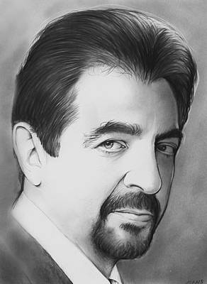 Writer Drawing - Joe Montegna by Greg Joens