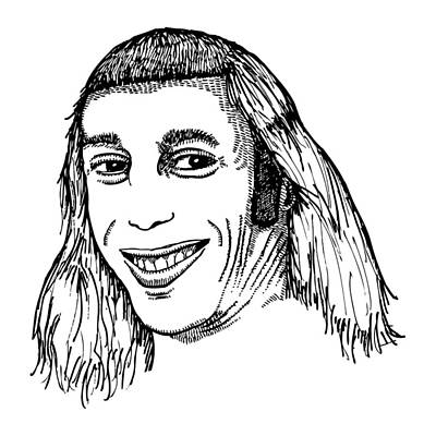 Dude Drawing - Joe Mullet by Karl Addison