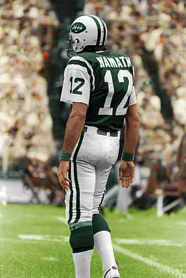 Joe Namath New York Jets 1975 Original by Jonathan Eric