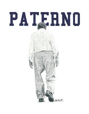 Penn State University Mixed Media - Joe Paterno by Chris Brown