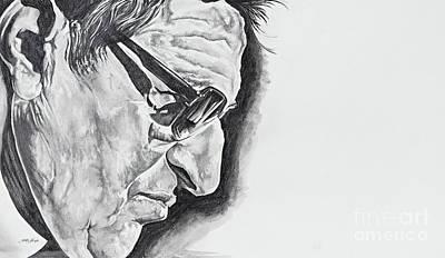 Drawing - Joe Paterno by Jeleata Nicole