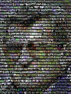 Animals Digital Art - Joe Paterno Mosaic by Paul Van Scott