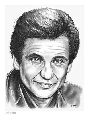 Celebrities Drawing - Joe Pesci by Greg Joens