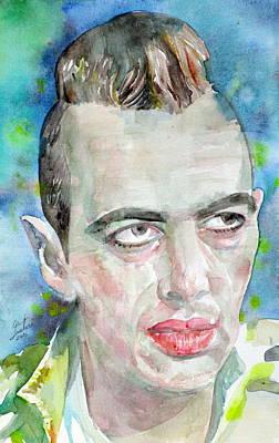 Joe Strummer - Watercolor Portrait.4 Art Print by Fabrizio Cassetta