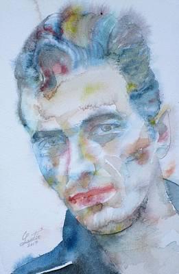 Painting - Joe Strummer - Watercolor Portrait.5 by Fabrizio Cassetta