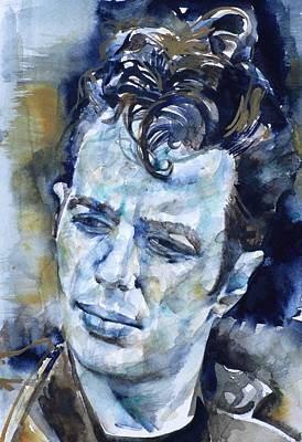 Painting - Joe Strummer - Watercolor Portrait.6 by Fabrizio Cassetta