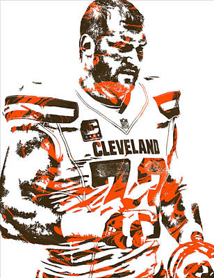 Joe Thomas Cleveland Browns Pixel Art 2 Art Print