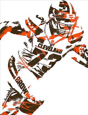 Joe Thomas Cleveland Browns Pixel Art 4 Art Print