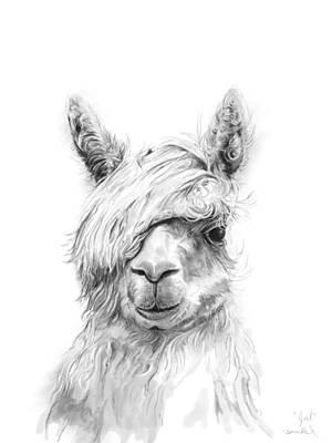 Animals Drawings - Joel by K Llamas
