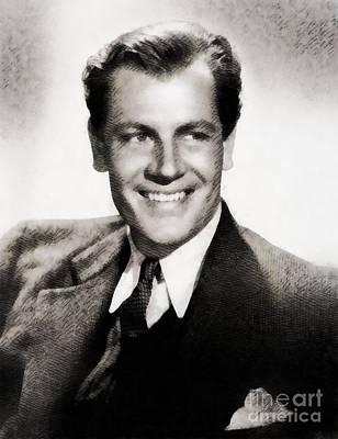 Joel Mccrea, Vintage Actor Art Print by John Springfield
