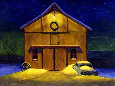 Snow Scape Painting - Joe's Barn by Arthur Barnes