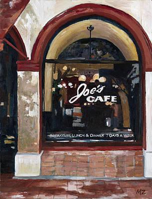 Steakhouses Painting - Joes Cafe Santa Barbara by Michele Zuzalek