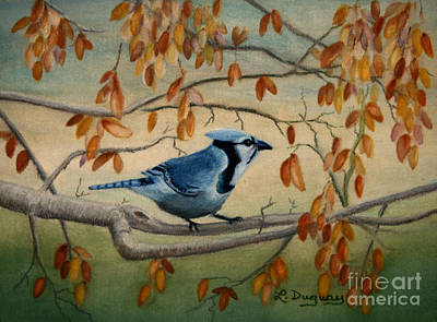 Bluejay Drawing - Joe's Jay by Lora Duguay