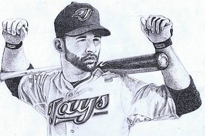 World Series Art Drawing - Joey Bats by Paul Smutylo