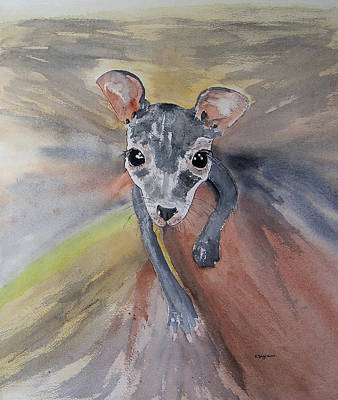 Painting - Joey In Mums Pouch by Elvira Ingram