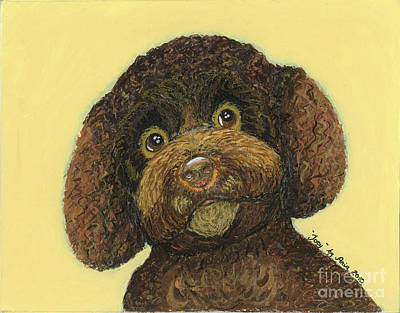 Print featuring the pastel Joey Poodle Mix by Ania M Milo