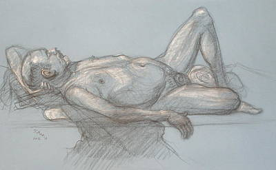 Drawing - Joey Reclining #1 by Donelli  DiMaria