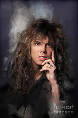 Joey Wall Art - Painting - Joey Tempest by Melanie D