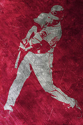 Joey Votto Cincinnati Reds Art Art Print by Joe Hamilton