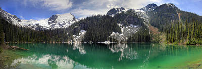 Photograph - Joffre Lake Middle Panorama B.c Canada by Pierre Leclerc Photography