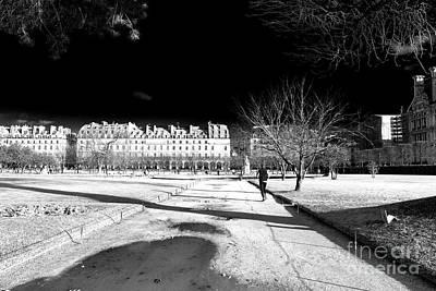 Jogging In Paris Art Print
