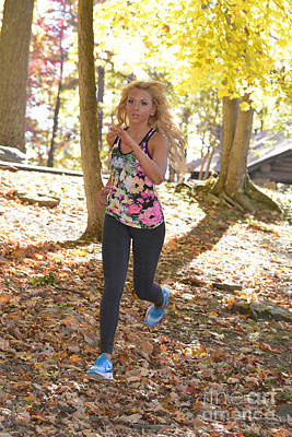 Photograph - Jogging In The Fall by Dan Friend