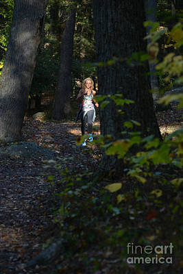 Photograph - Jogging In The Fall In The Trees by Dan Friend