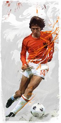 Icon Digital Art - Johan Cruyff by Afterdarkness