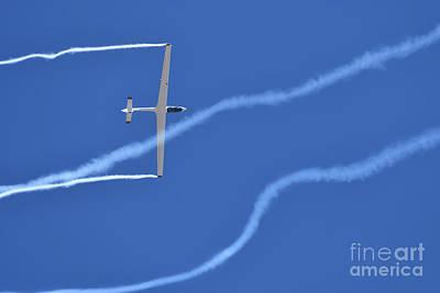 Photograph - Johan Gustafsson In His Glider  by George Atsametakis