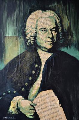Painting - Johann Sebastian Bach by Victor Minca