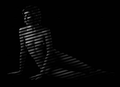 Photograph - Johanna Behind Blinds by Gregory Daley  MPSA