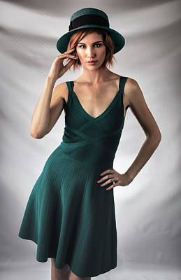 Photograph - Johanne In Green by Gregory Daley  MPSA