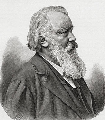 Brahms Drawing - Johannes Brahms, 1833 by Vintage Design Pics