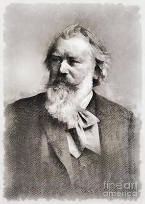 Johannes Brahms, Composer Art Print by John Springfield