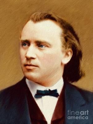 Johannes Brahms, Composer Art Print