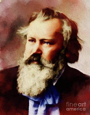 Musicians Royalty Free Images - Johannes Brahms, Famous Composer Royalty-Free Image by Esoterica Art Agency