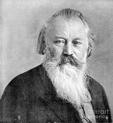 Brahms Photograph - Johannes Brahms, German Composer by Science Source