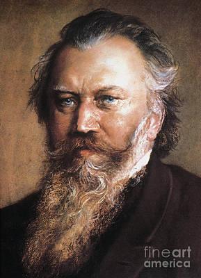 Photograph - Johannes Brahms by Granger