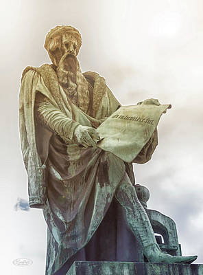 Photograph - Johannes Gutenberg Statue, Strasbourg, France by Elenarts - Elena Duvernay photo