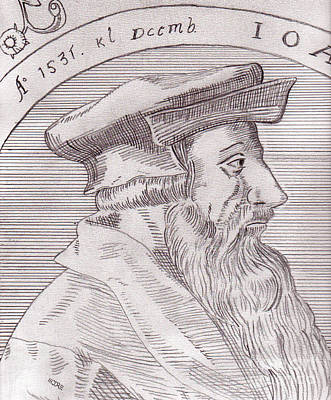 Drawing - Johannes Oecolampadius by Pat Moore