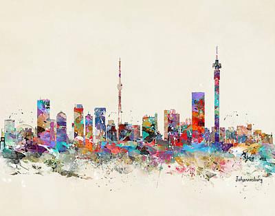 Painting - Johannesburg Skyline by Bri B