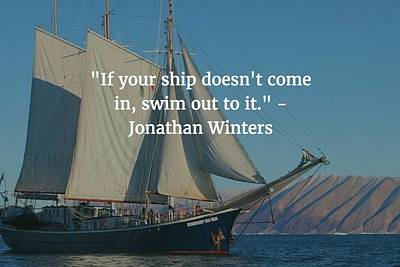 Photograph - Johathan Winters Quote by Matt Create