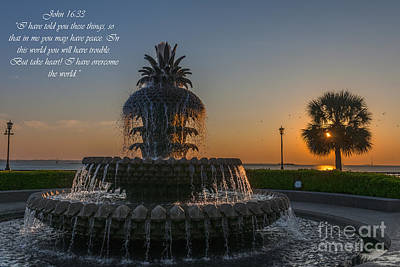 Photograph - John 16 Verse 33 by Dale Powell