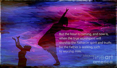 23 Hours Photograph - John 4 23 Worshipers by Beverly Guilliams